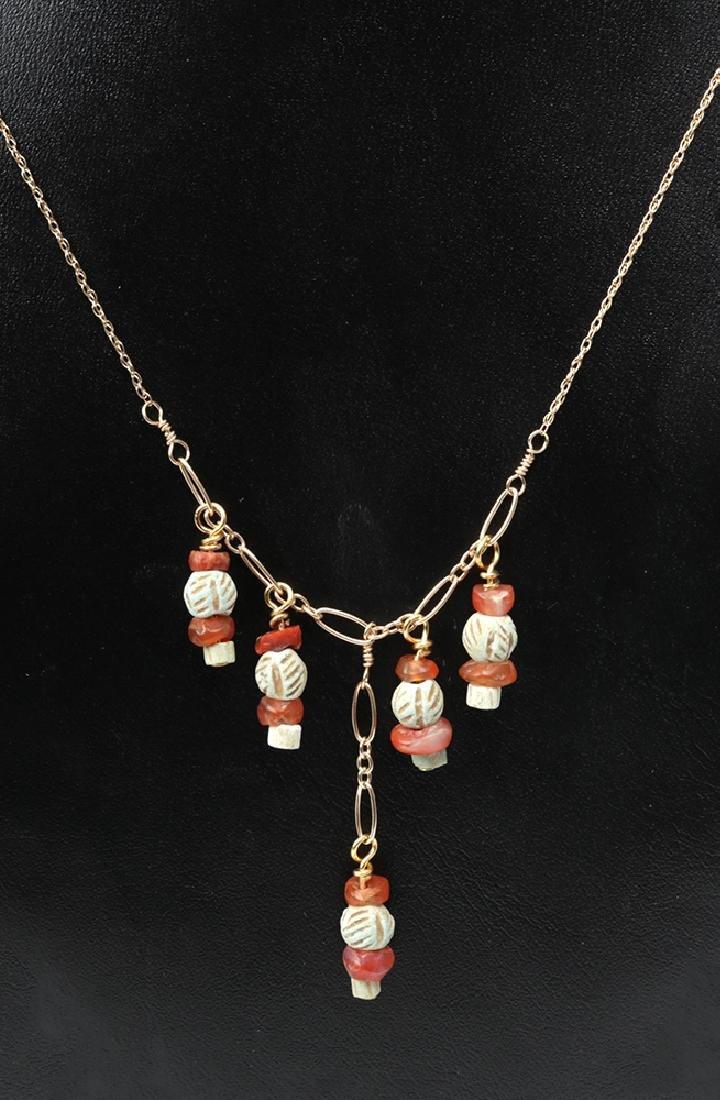 Sumerian Pendant Necklace & Earrings - 2