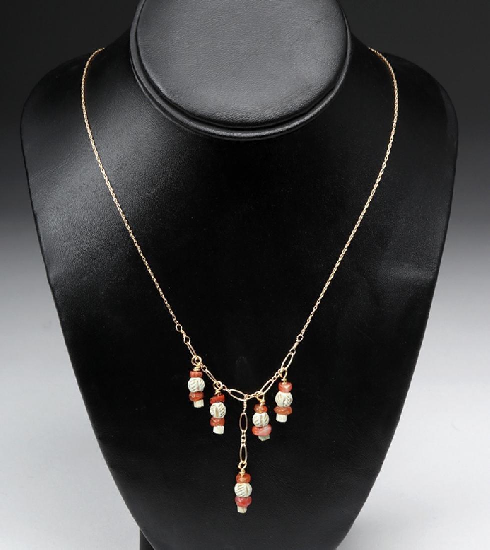 Sumerian Pendant Necklace & Earrings - 3