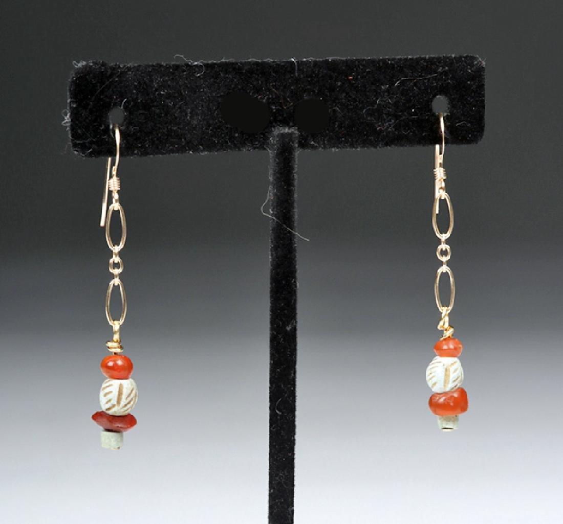 Sumerian Pendant Necklace & Earrings - 5