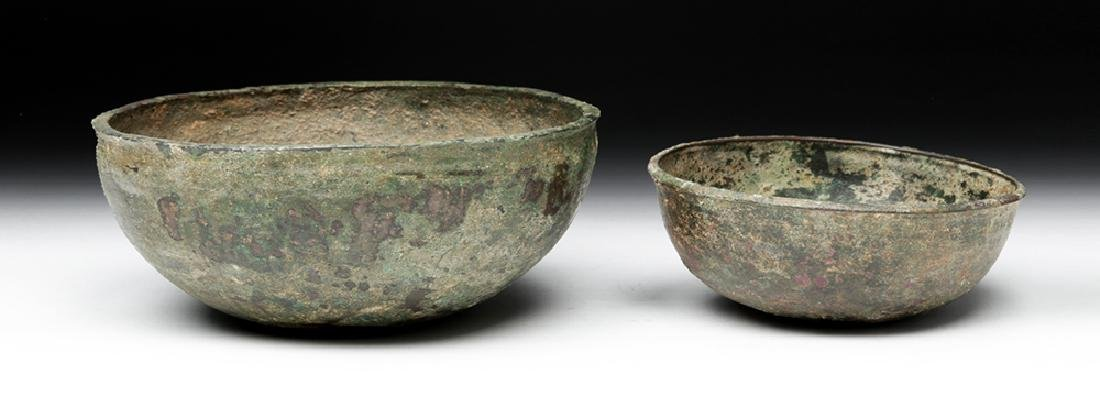 Lot of 2 Ancient Luristan Bronze Bowls - 2
