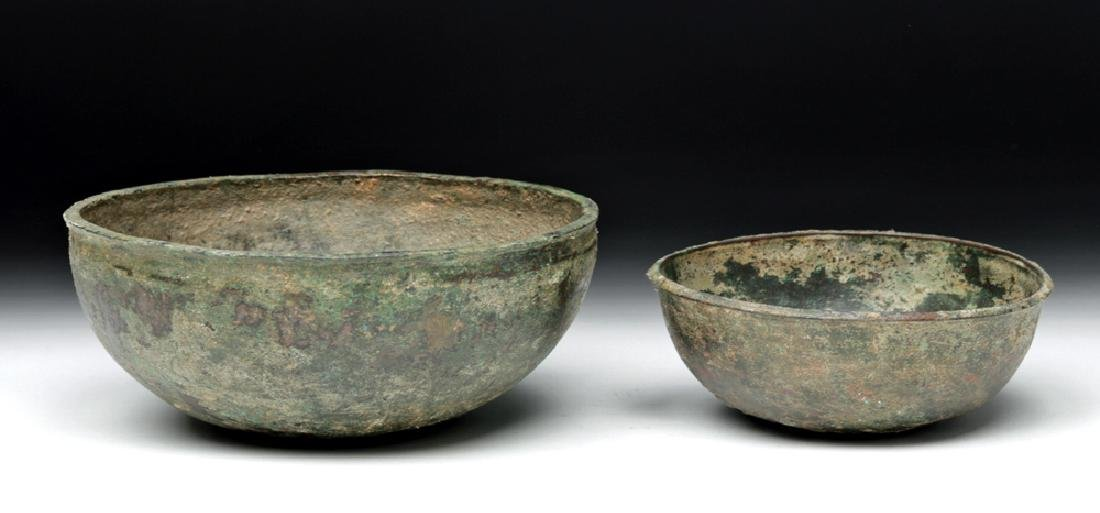 Lot of 2 Ancient Luristan Bronze Bowls - 7