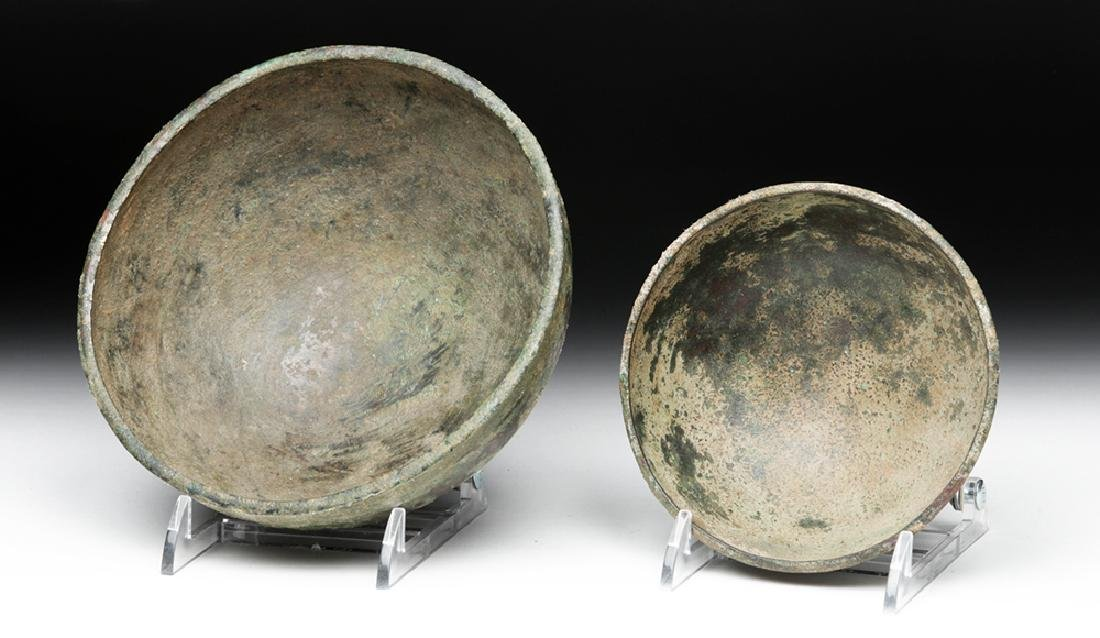 Lot of 2 Ancient Luristan Bronze Bowls - 8
