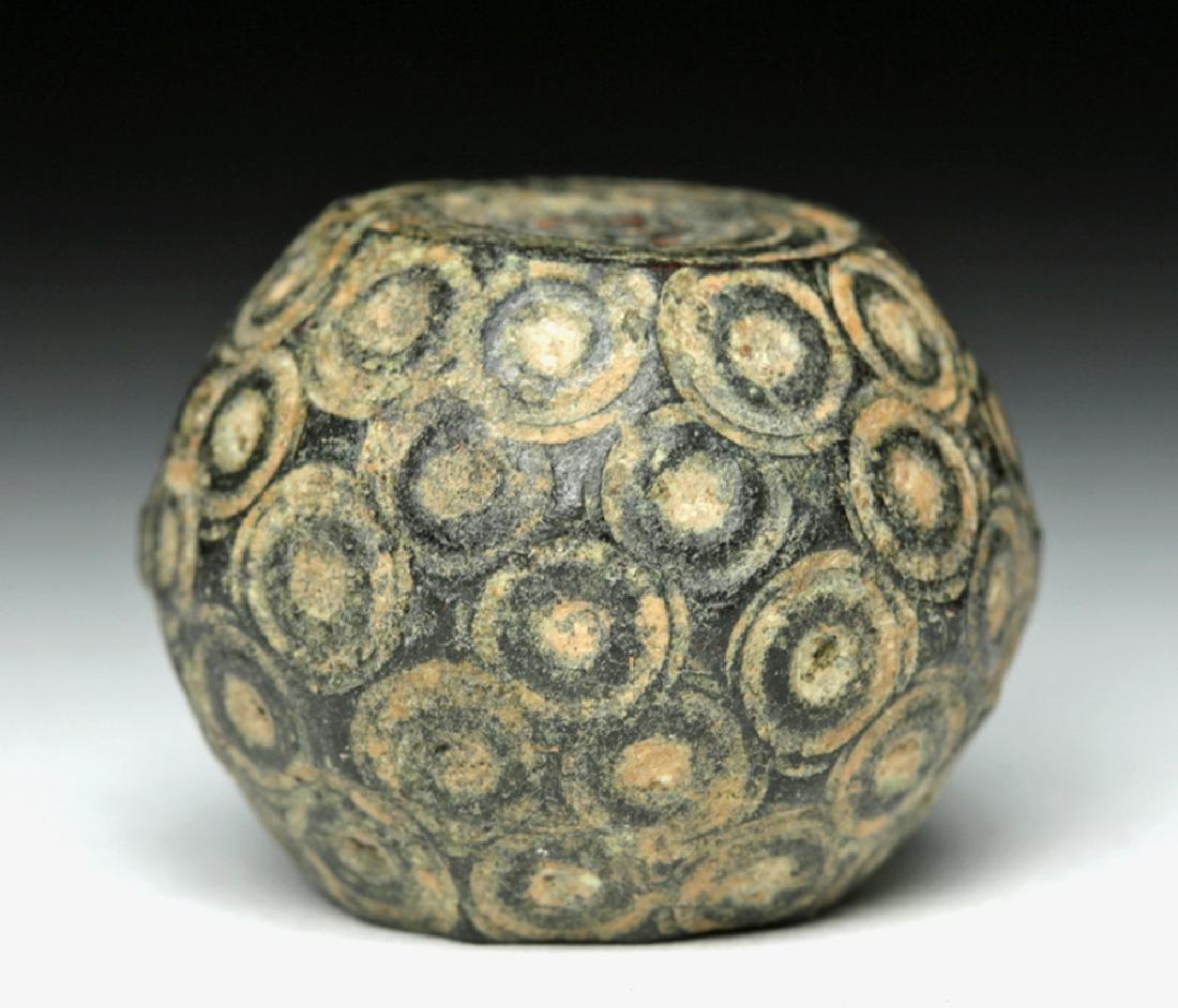 Bactrian Bronze / Lead Pommel - Incised Dots
