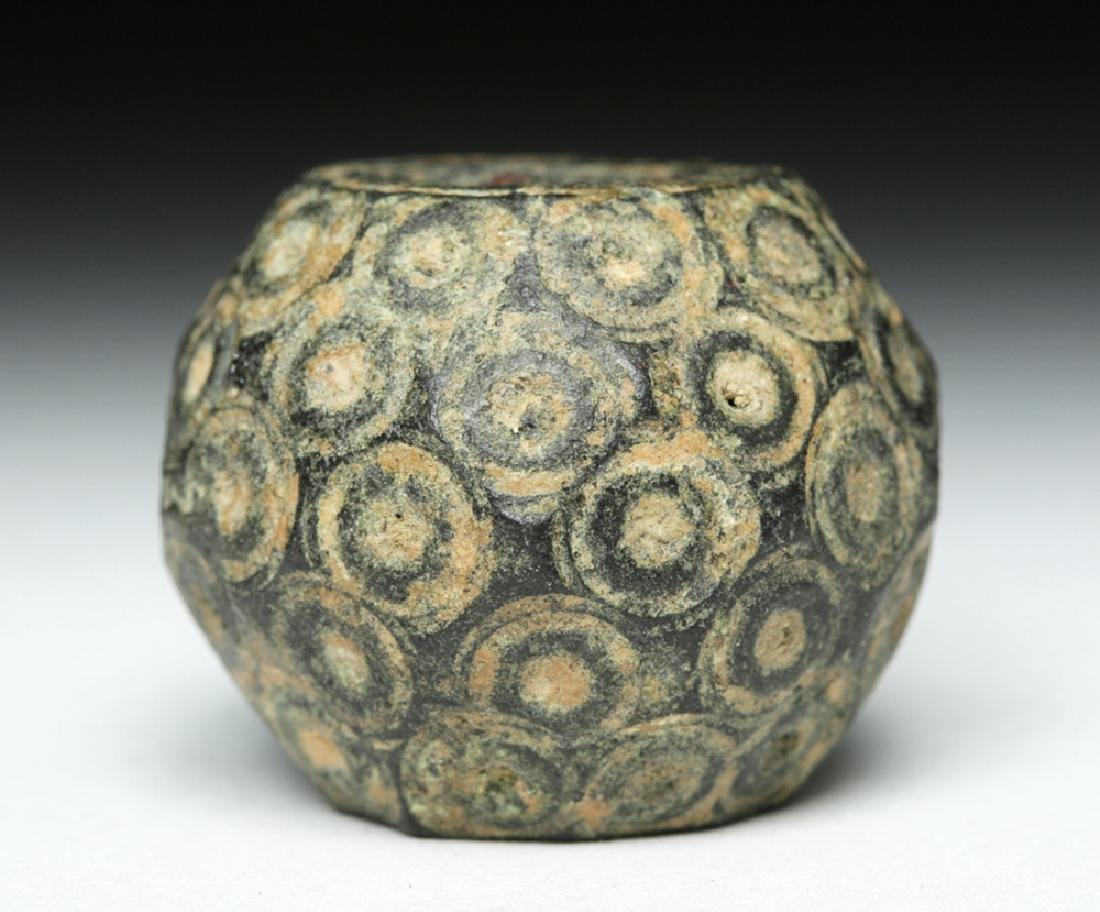 Bactrian Bronze / Lead Pommel - Incised Dots - 2
