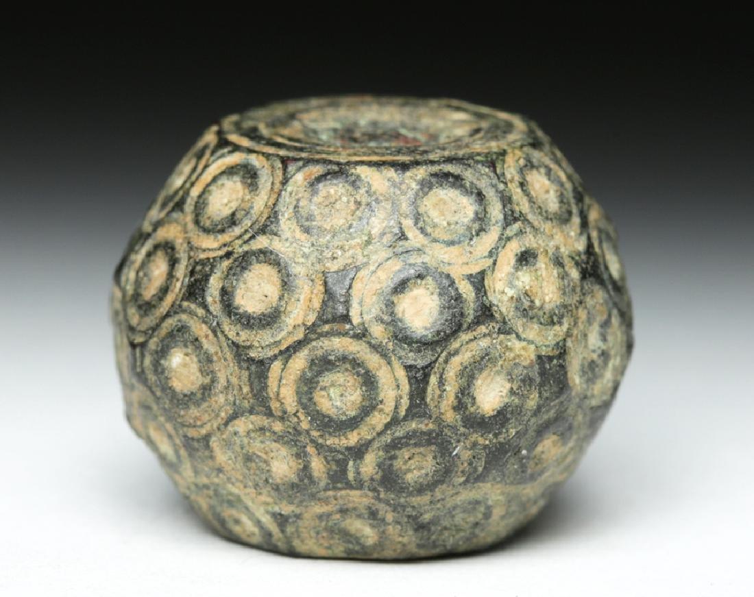 Bactrian Bronze / Lead Pommel - Incised Dots - 3
