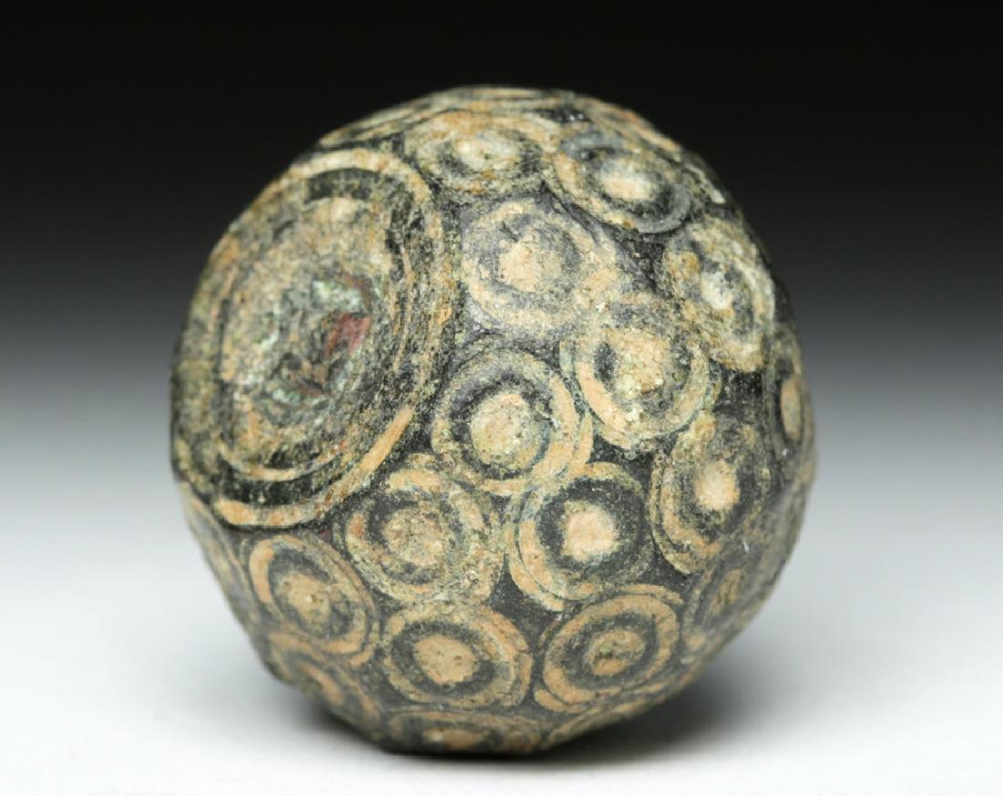 Bactrian Bronze / Lead Pommel - Incised Dots - 4