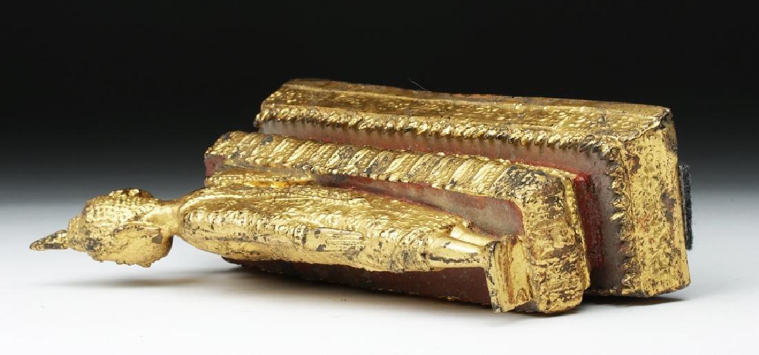 19th C. Burmese Gilded Bronze Parinirvana Buddha - 7