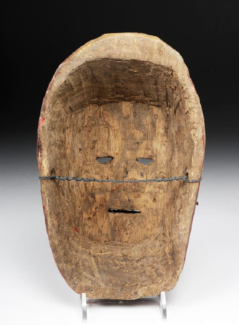 Early 20th C. Nepalese Painted Wood Festival Mask - 4