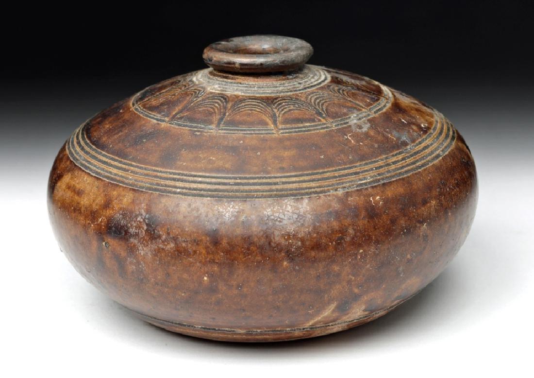 12th C. Khmer Glazed Pottery Jar