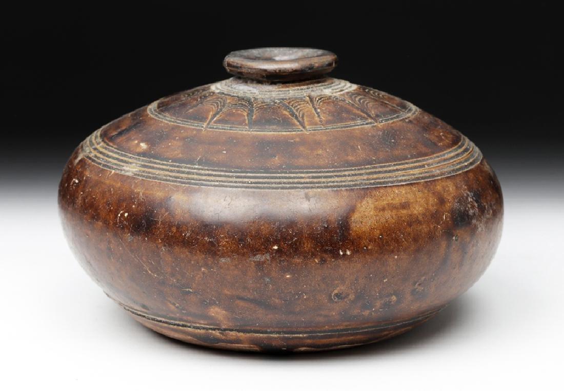 12th C. Khmer Glazed Pottery Jar - 2