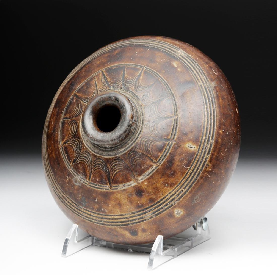 12th C. Khmer Glazed Pottery Jar - 5