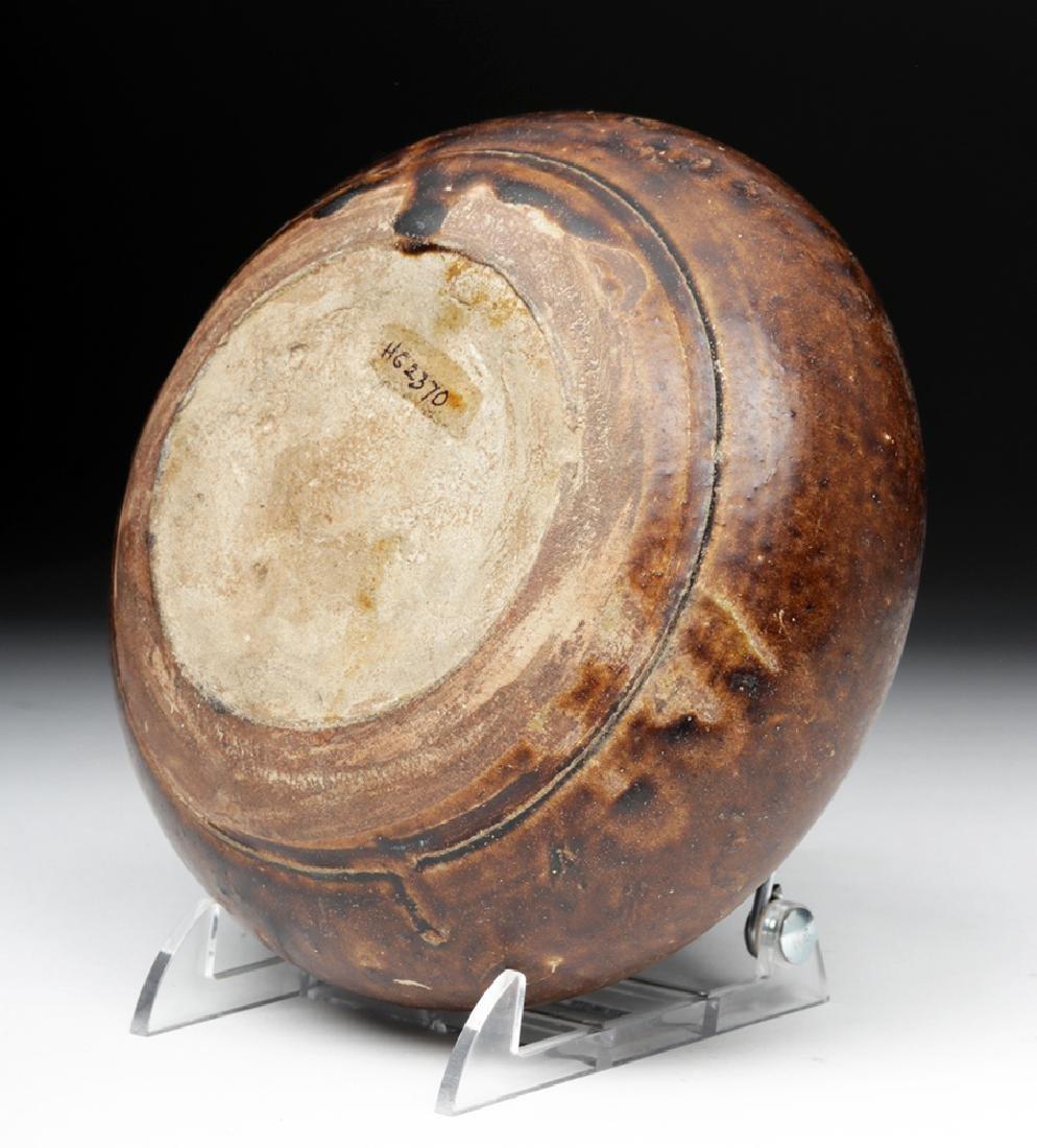 12th C. Khmer Glazed Pottery Jar - 6