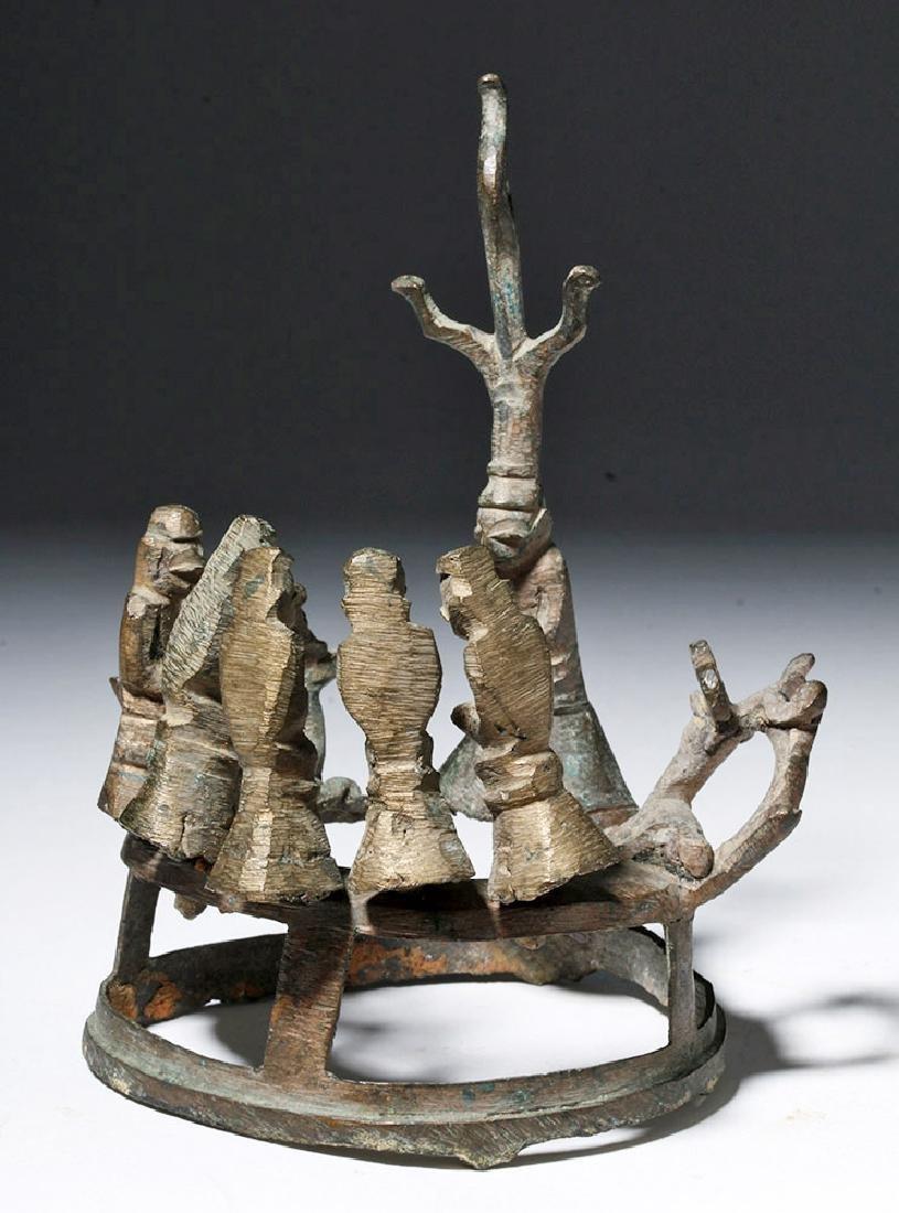 18th C. Burmese Bronze Buddha, Attendants, Deer