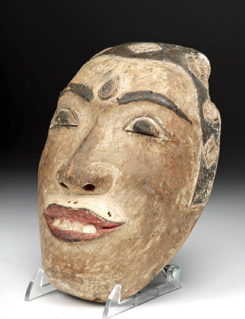 Early 20th C. Indonesian / Balinese Wood Festival Mask - 2