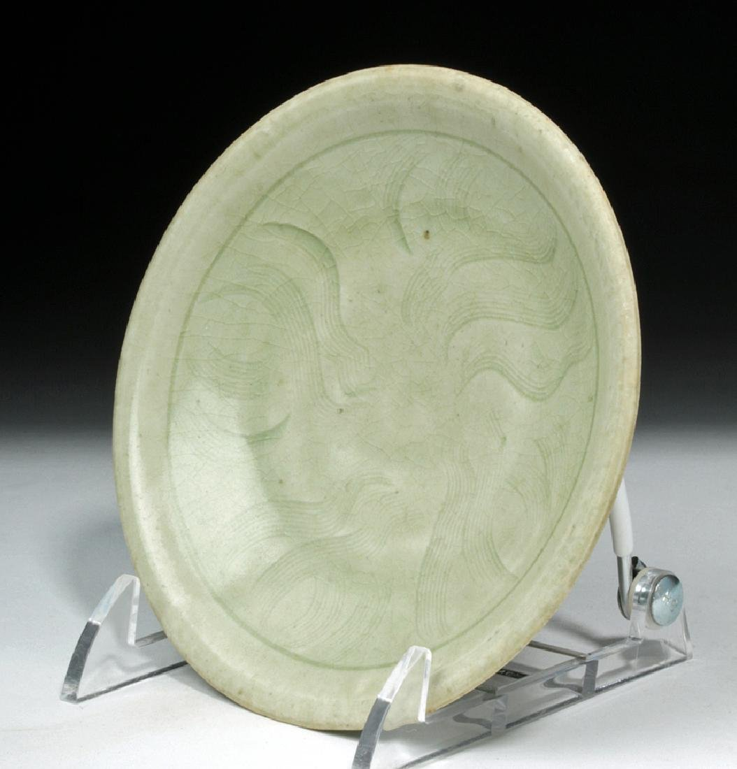 Chinese Song Dynasty Celadon Glaze Saucer