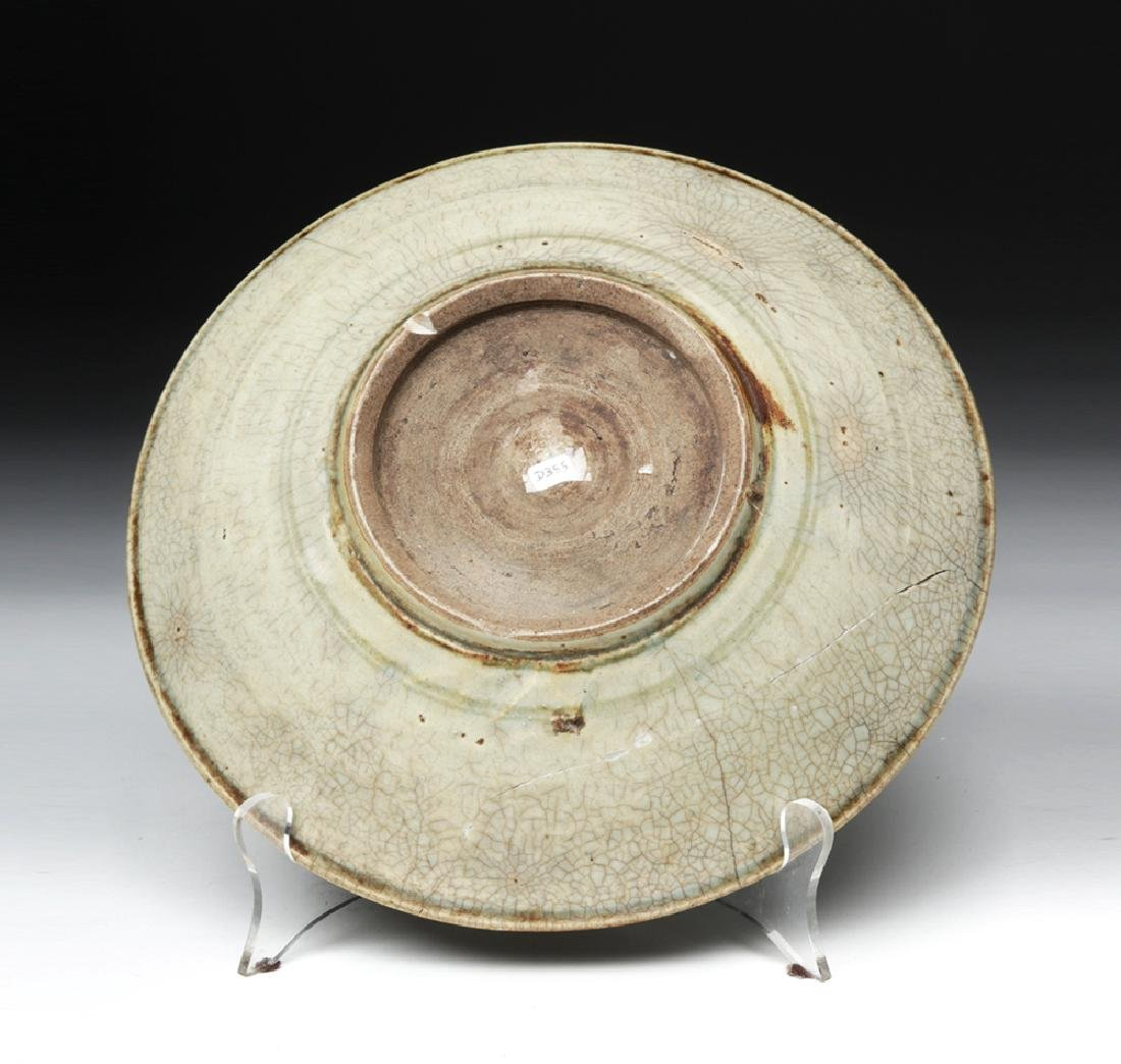 Chinese Song / Yuan Dynasty Celadon Glazed Plate - 2