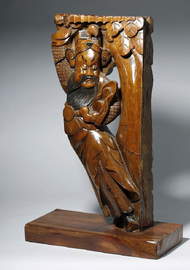 19th C. Chinese Carved Wood Corbel from Temple - 2