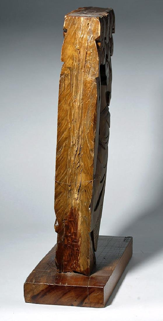 19th C. Chinese Carved Wood Corbel from Temple - 3