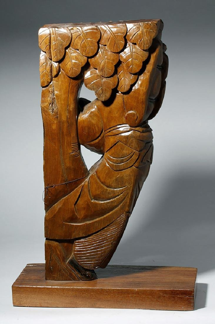19th C. Chinese Carved Wood Corbel from Temple - 5