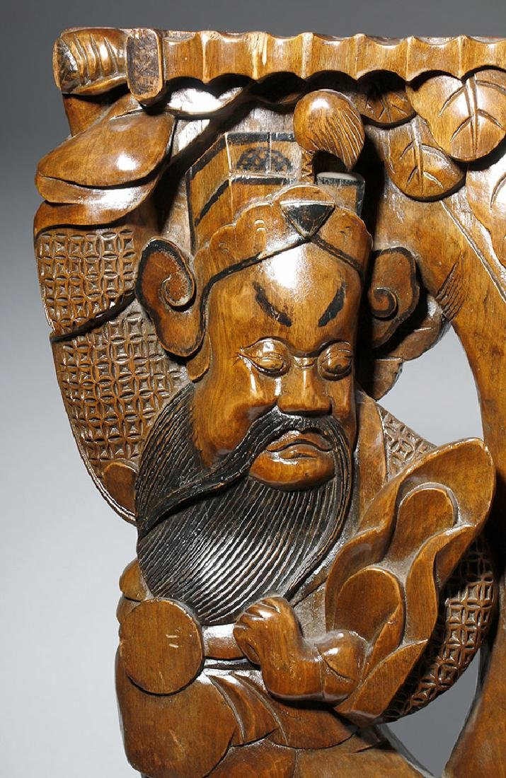 19th C. Chinese Carved Wood Corbel from Temple - 9