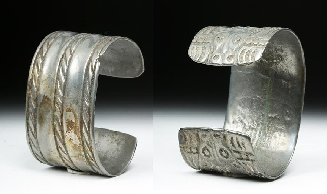 Early Viking White Bronze Cuff Bracelet w/ Animals