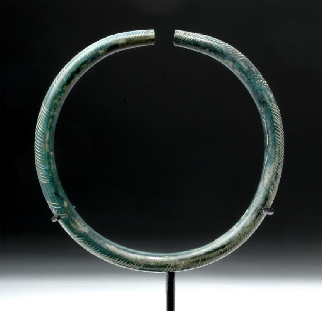 European Hallstatt Incised Bronze Armband