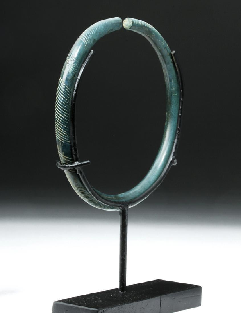 European Hallstatt Incised Bronze Armband - 2