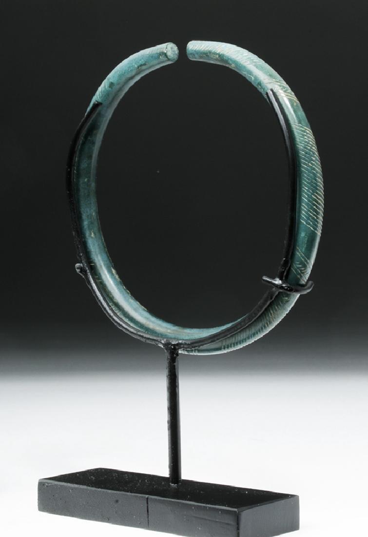 European Hallstatt Incised Bronze Armband - 3