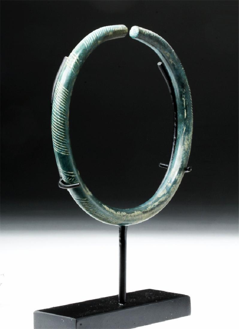 European Hallstatt Incised Bronze Armband - 4