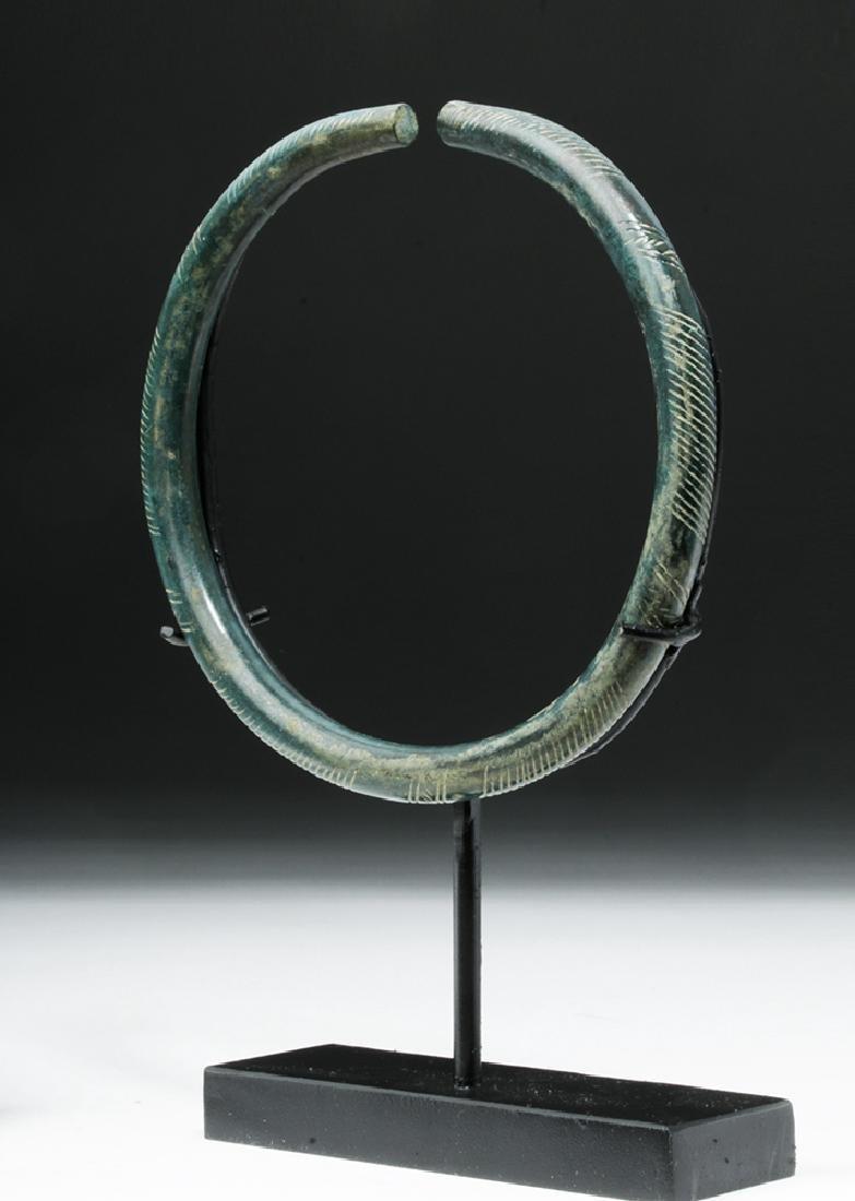 European Hallstatt Incised Bronze Armband - 5