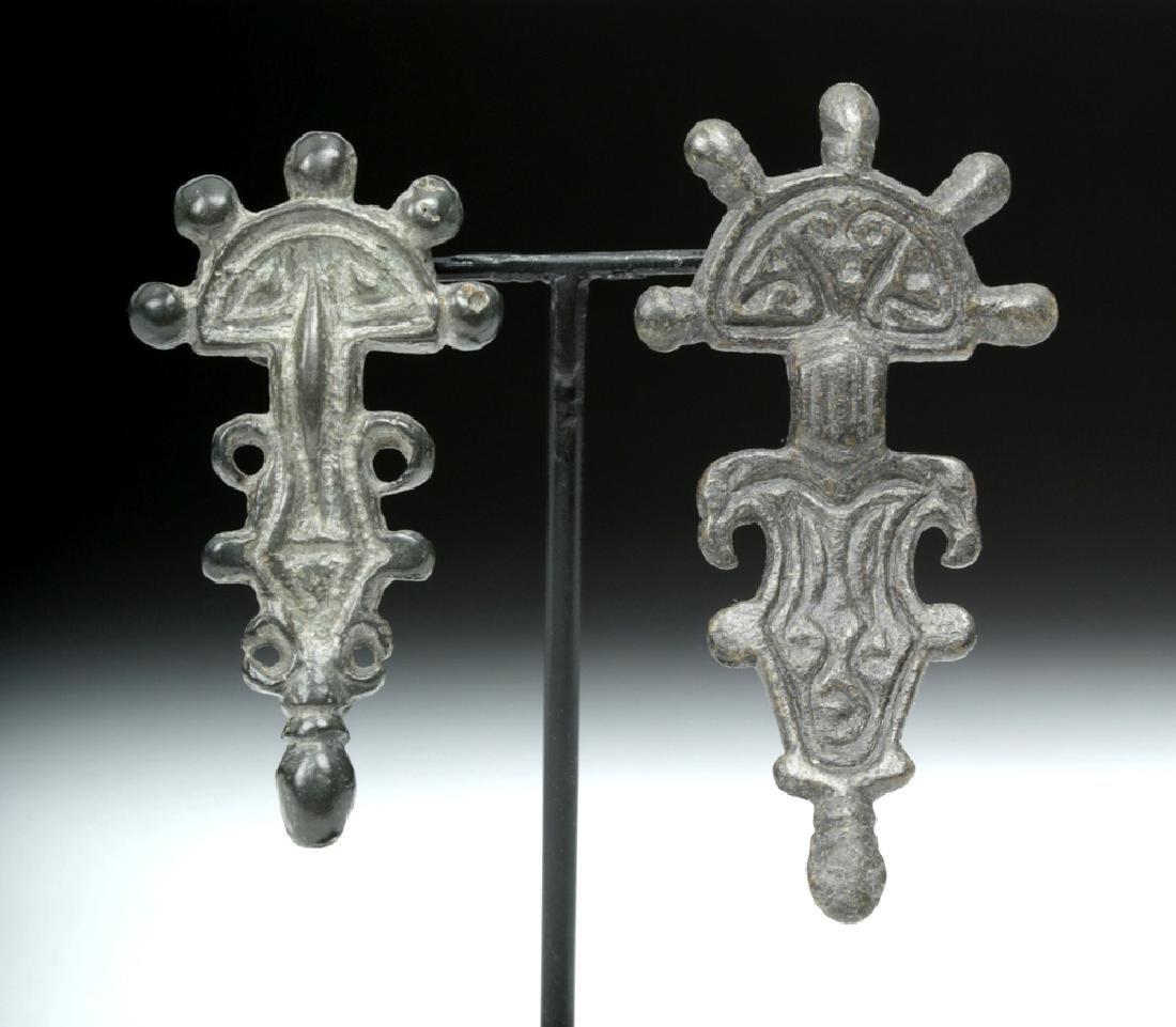 Visigoth Bronze Bow Brooches / Fibulae (2)
