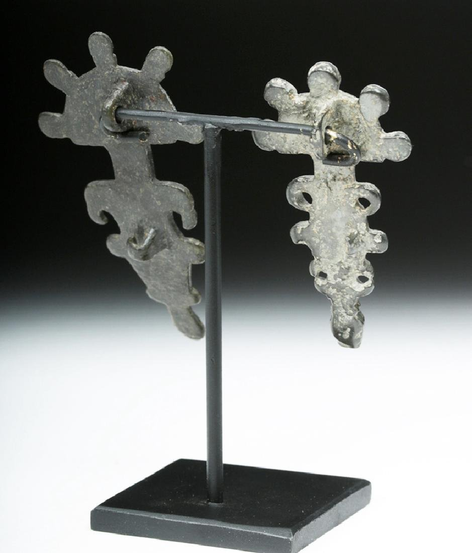 Visigoth Bronze Bow Brooches / Fibulae (2) - 3