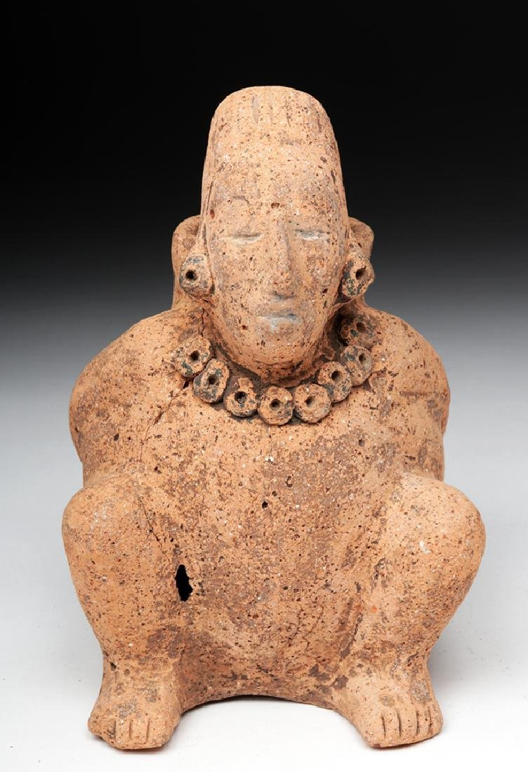 Mayan Terracotta Figural Vessel - Seated Cargador - 2