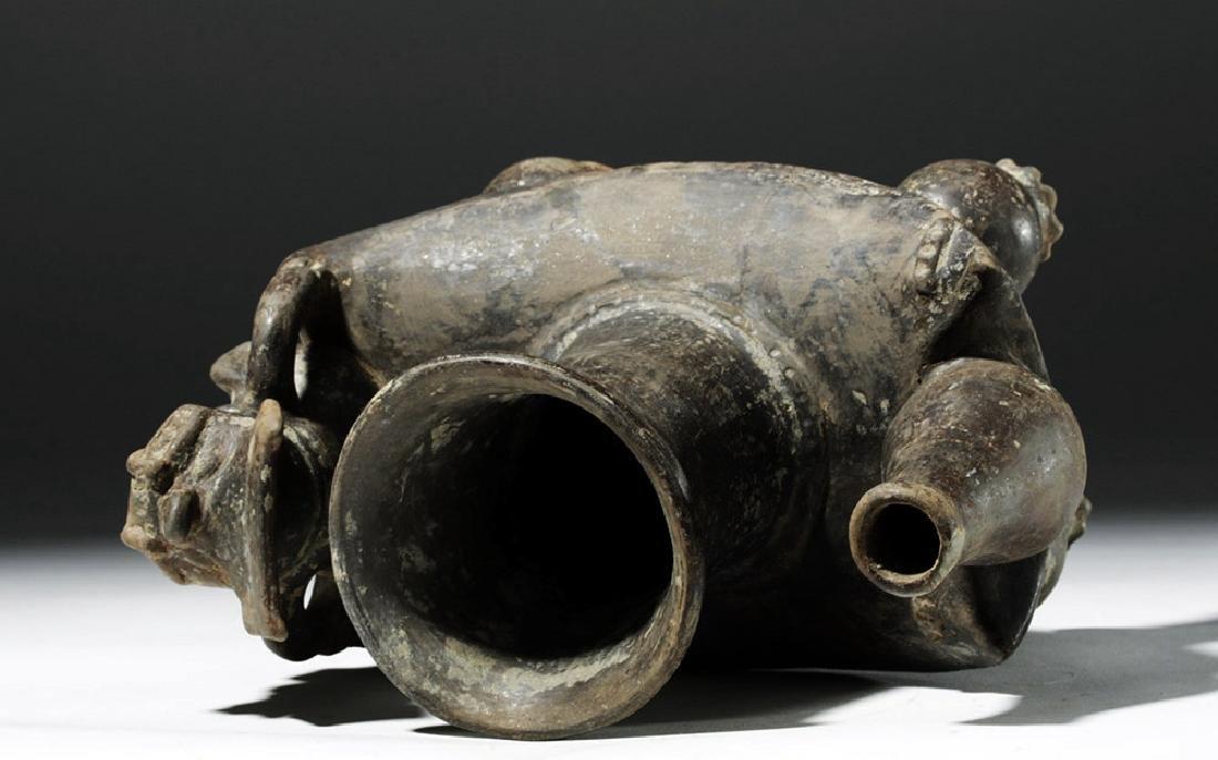 Tairona Blackware Figural Vessel - 4 Zoomorphic Legs - 9