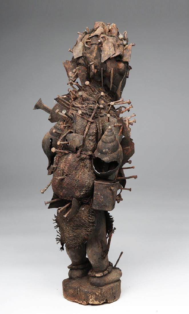Early 20th C. African Bakongo Nkondi Nkisi Nail Fetish - 4