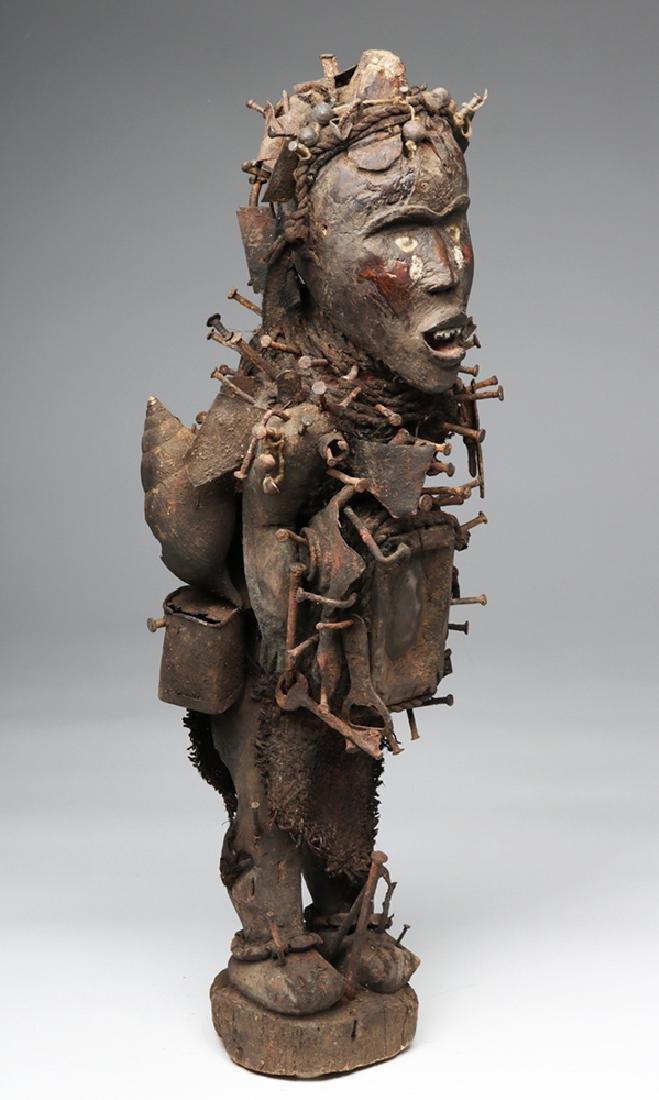 Early 20th C. African Bakongo Nkondi Nkisi Nail Fetish - 5