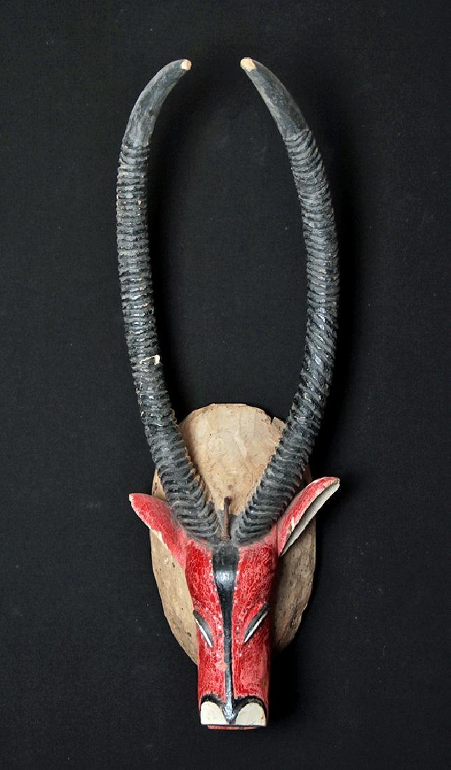 20th C. African Bozo Painted  Wood Mask of an Antelope - 2