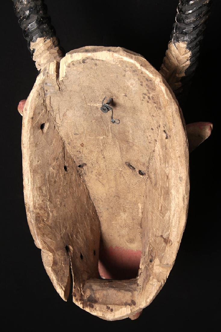 20th C. African Bozo Painted  Wood Mask of an Antelope - 5