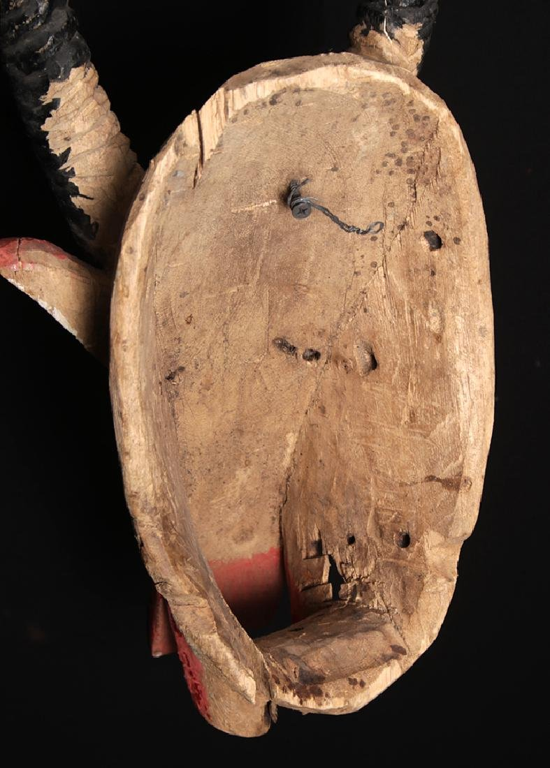 20th C. African Bozo Painted  Wood Mask of an Antelope - 6