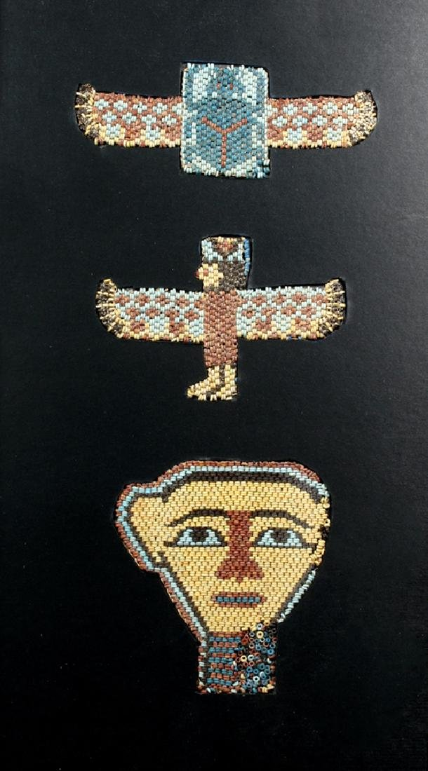Rare / Original Egyptian Beaded Mask Ensemble
