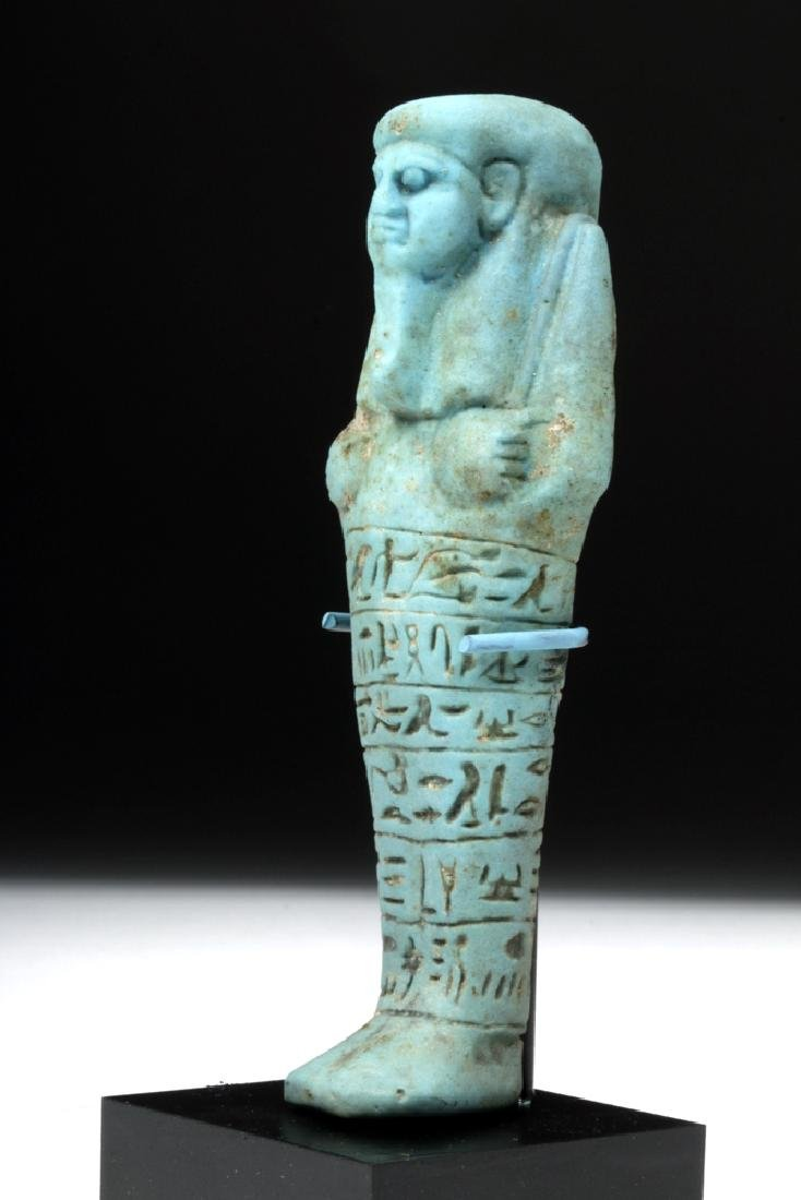 Egyptian 26th Dynasty Faience Ushabti for Ankh-Hor - 2
