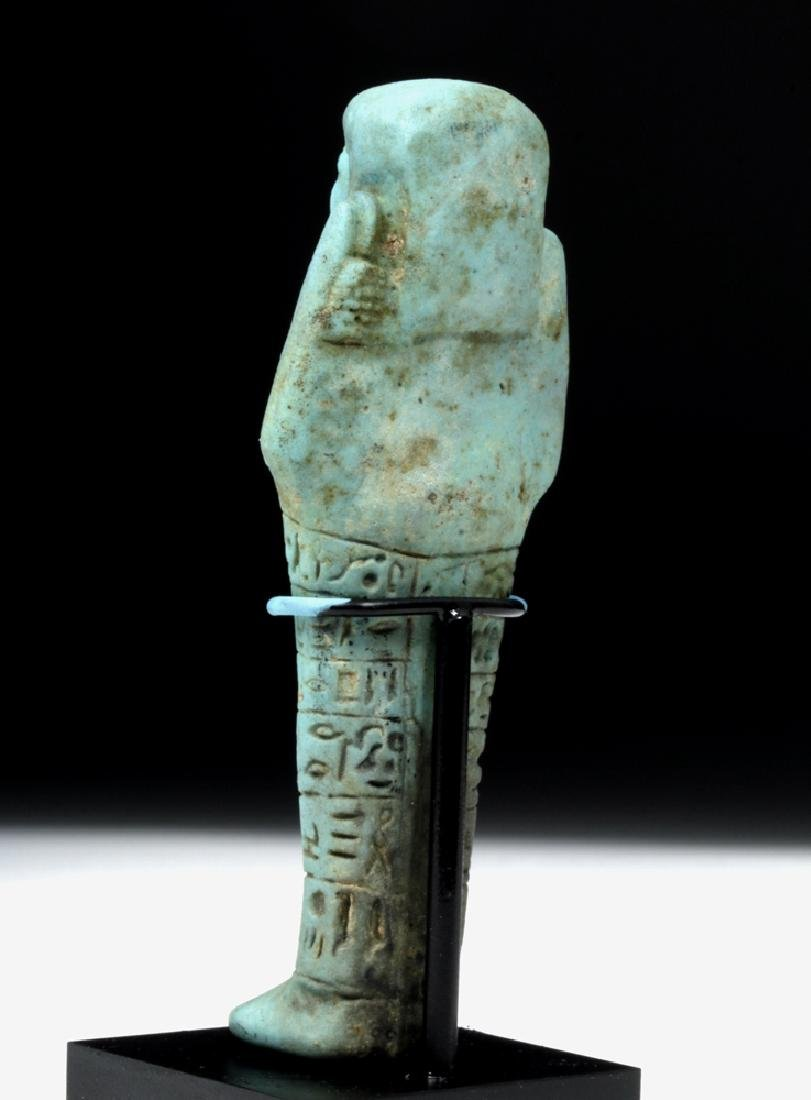 Egyptian 26th Dynasty Faience Ushabti for Ankh-Hor - 3