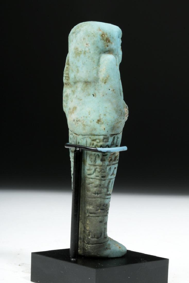 Egyptian 26th Dynasty Faience Ushabti for Ankh-Hor - 4