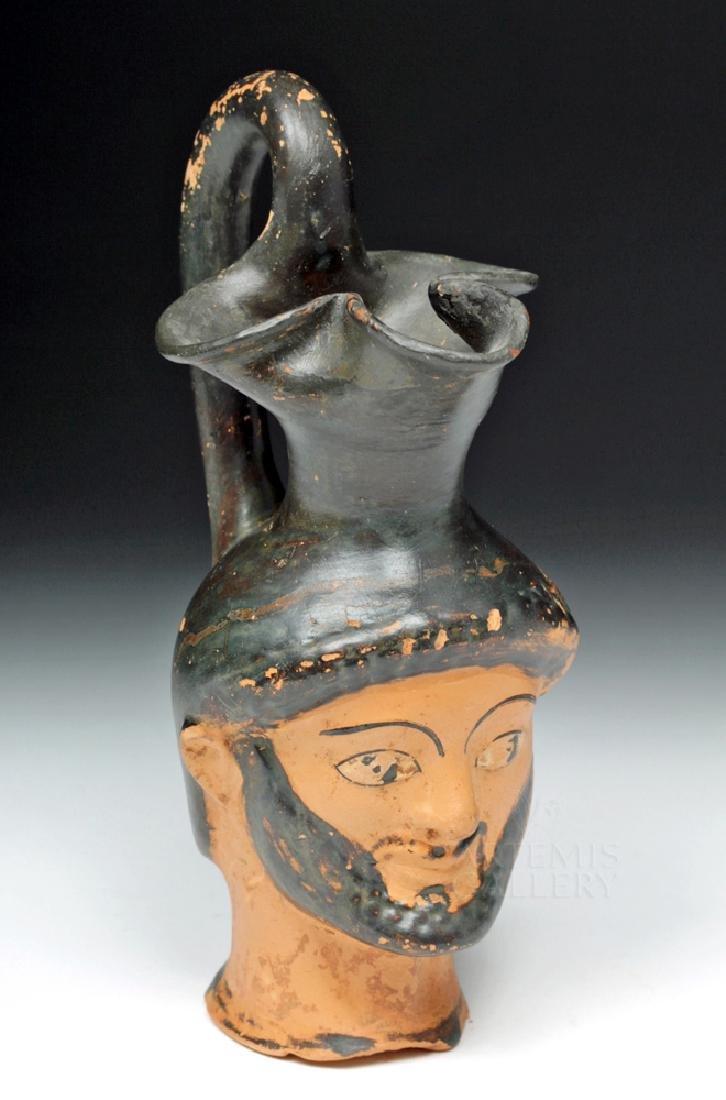 Greek Attic Figural Oinochoe Depicting Herakles