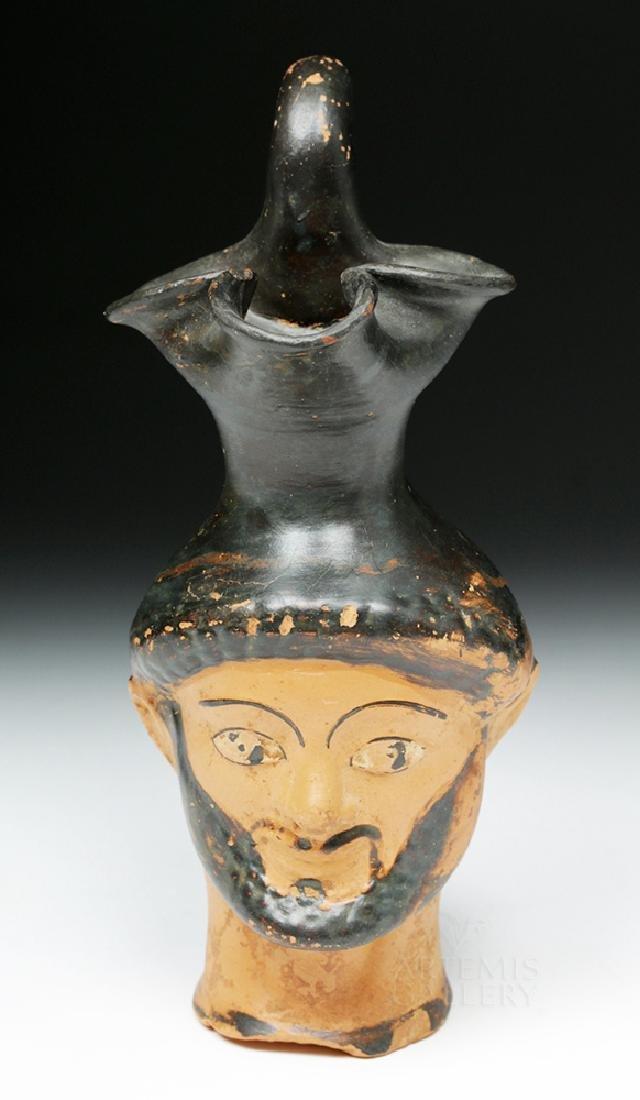 Greek Attic Figural Oinochoe Depicting Herakles - 2