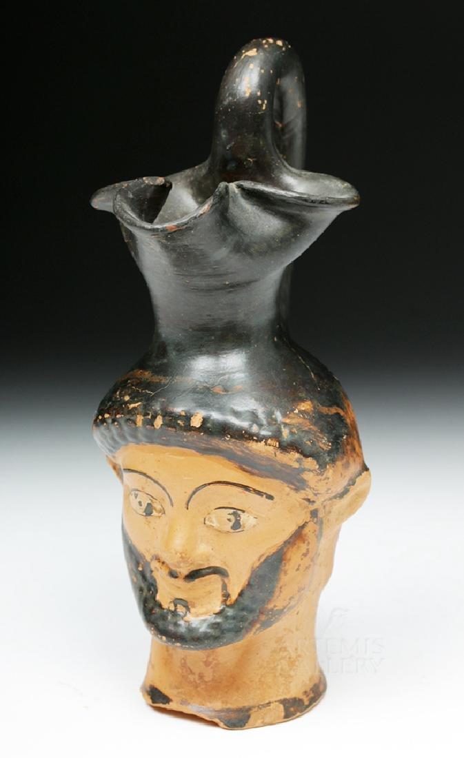 Greek Attic Figural Oinochoe Depicting Herakles - 6