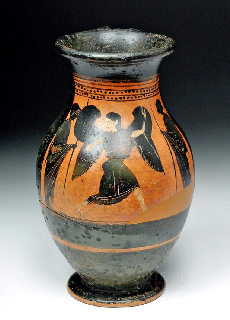 Greek Attic Olpe w/ Nike, ex-Sotheby's, ex-Museum