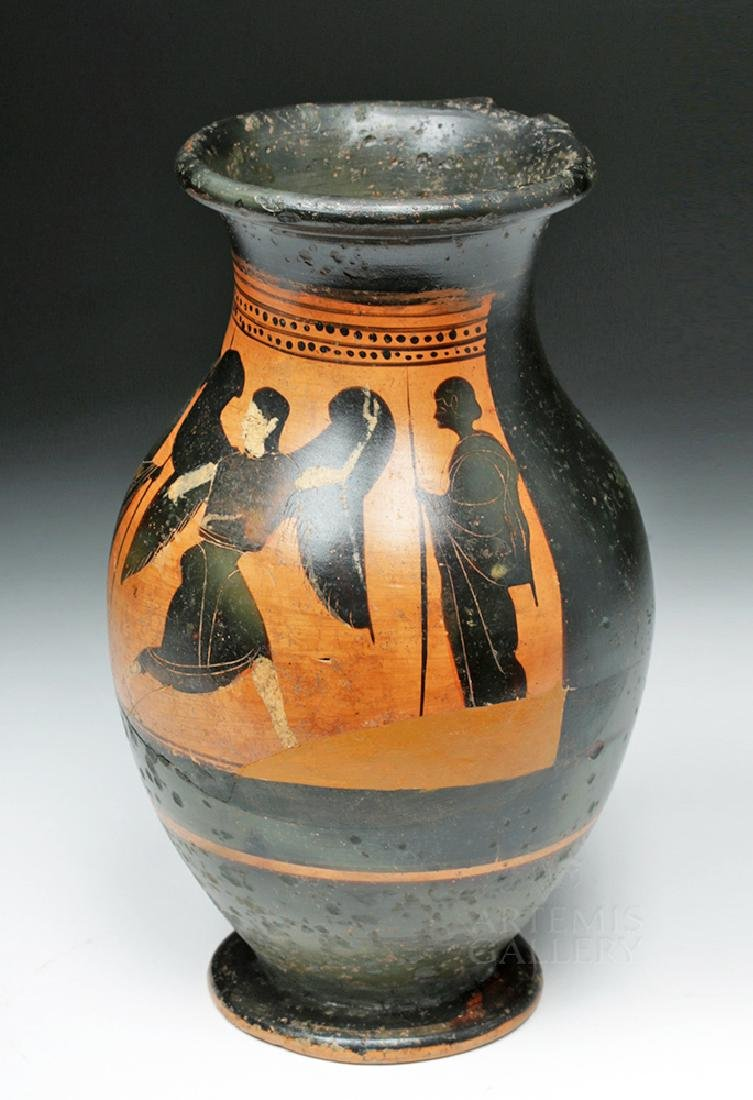 Greek Attic Olpe w/ Nike, ex-Sotheby's, ex-Museum - 2