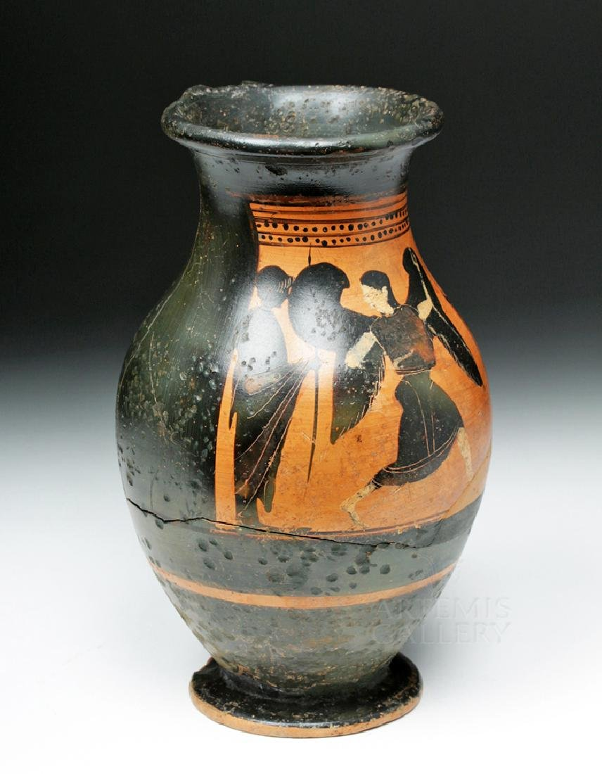 Greek Attic Olpe w/ Nike, ex-Sotheby's, ex-Museum - 5