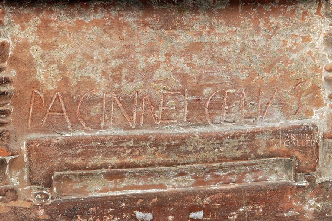 Etruscan Terracotta Cinerarium w/ Latin Inscription - 6